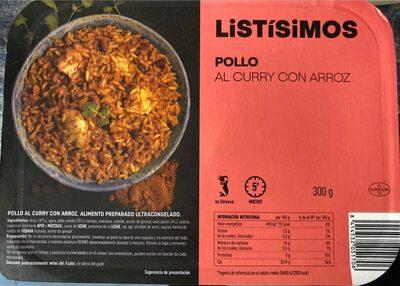 Listísimos: pollo al curry con arroz - Producto - es