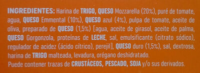 Pizza 4 Formaggi - La Super Fina - Ingredients