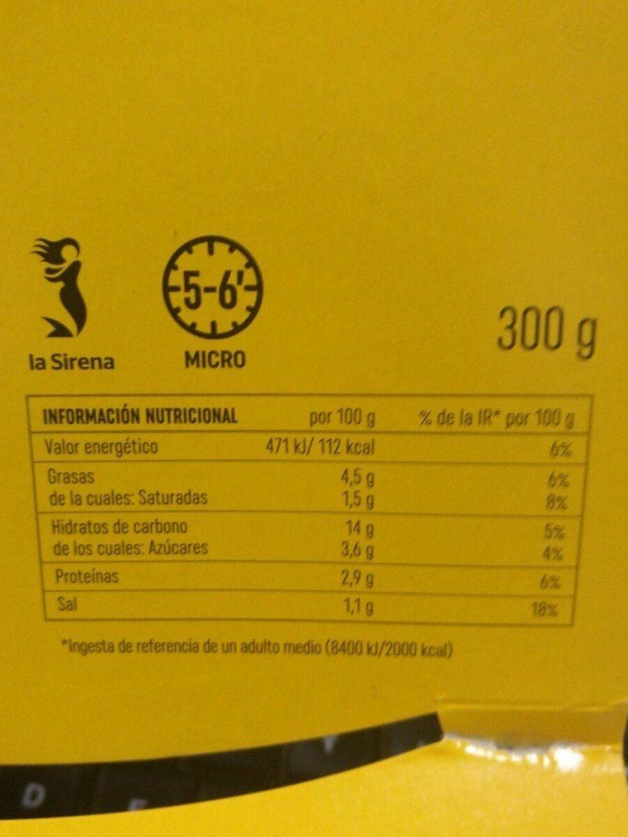 Listisimos punto pasta con vegetales salsa de tomate y albahaca - Informations nutritionnelles