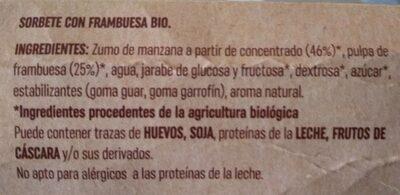 Sorbete frambuesa - Ingredientes - es