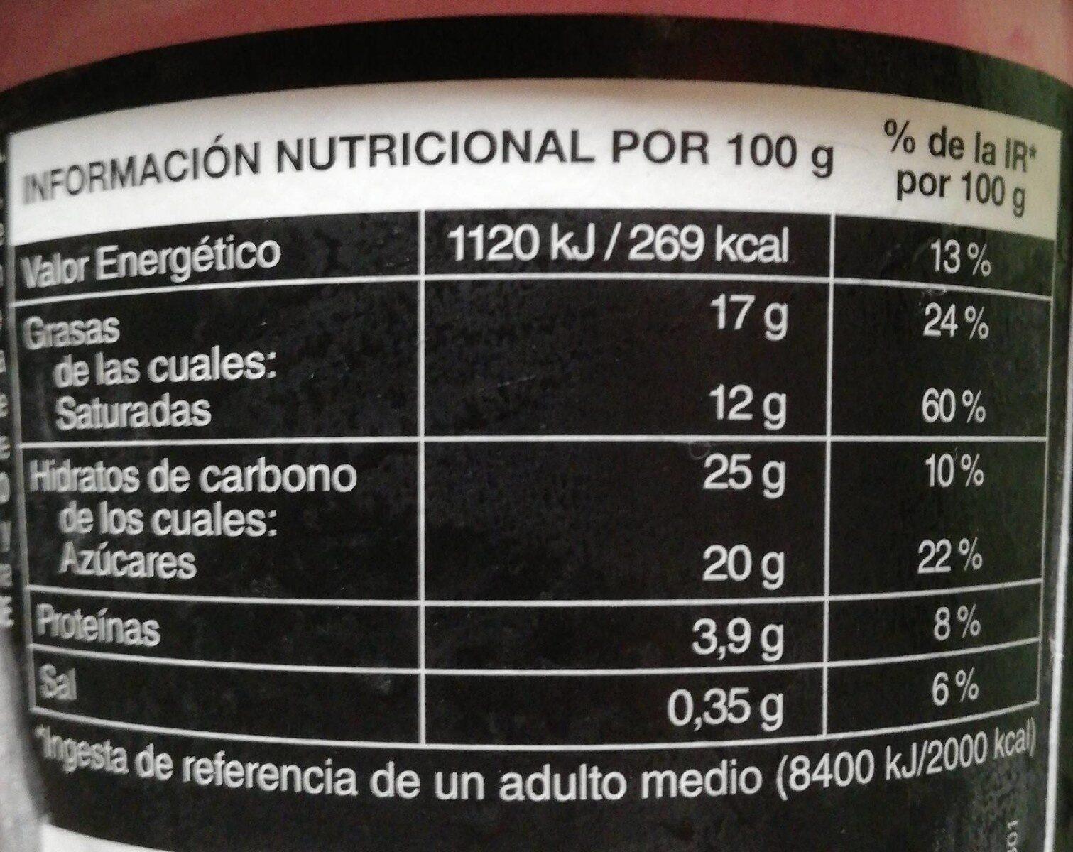Helado Strawberry Cheesecake - Información nutricional - en