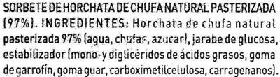 """Polos de horchata """"La Sirena"""" Pack de 6 - Ingredientes"""