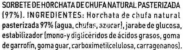 Polos de horchata - Ingredientes - es