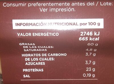 Almendras frita - Nutrition facts - es