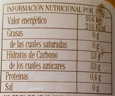 Fragata Sweet Orange - Información nutricional