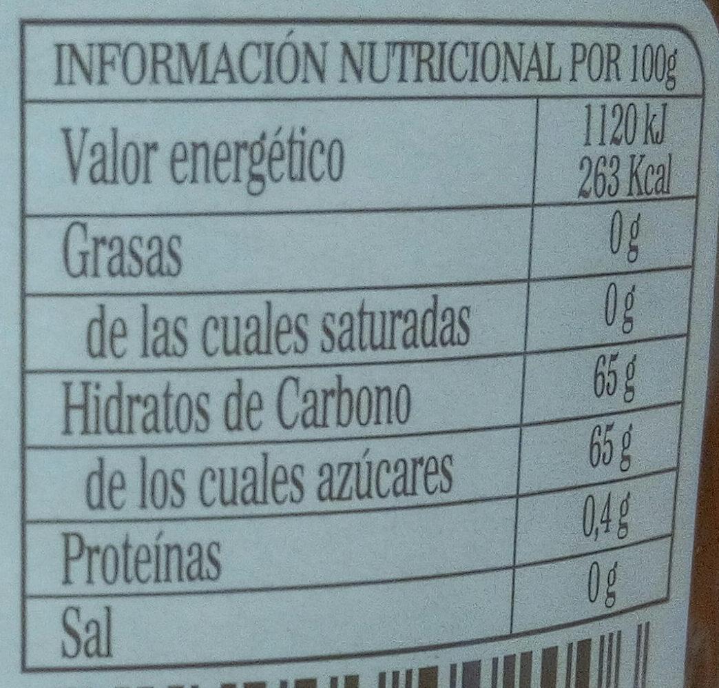 Mermelada de naranja amarga - Información nutricional