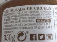 mermelada de ciruela - Ingredients