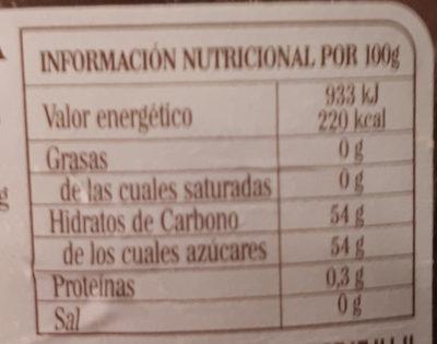 mermelada de ciruela - Informació nutricional
