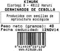 Germinados de cebolla frescos - Ingredientes - es
