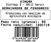 Germinados de fenogreco frescos - Ingredients