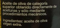 Aceite de oliva Virgen Extra Variedad arbequina - Ingrediënten - es