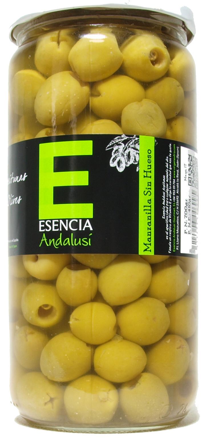 """Aceitunas verdes deshuesadas """"Esencia Andalusí"""" Variedad Manzanilla - Producto - es"""