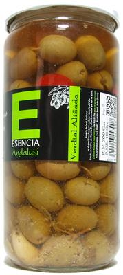 """Aceitunas verdes aliñadas """"Esencia Andalusí"""" Variedad verdial"""