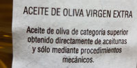 Aceite de oliva virgen extra - Ingredientes