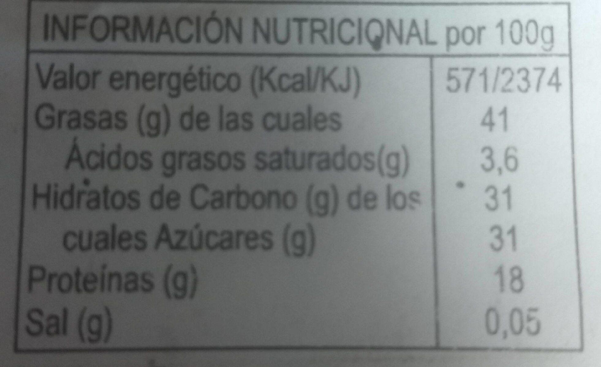 Turron Blando de Almendra - Voedingswaarden - fr