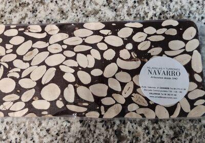 Turrón de chocolate puro con almendra - Product - es