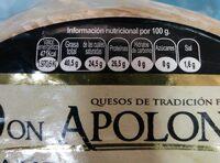 Queso de oveja - Información nutricional