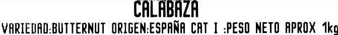 Calabaza - Ingredientes