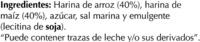 """Tostadas """"Special Line"""" Maíz - Ingredientes - es"""