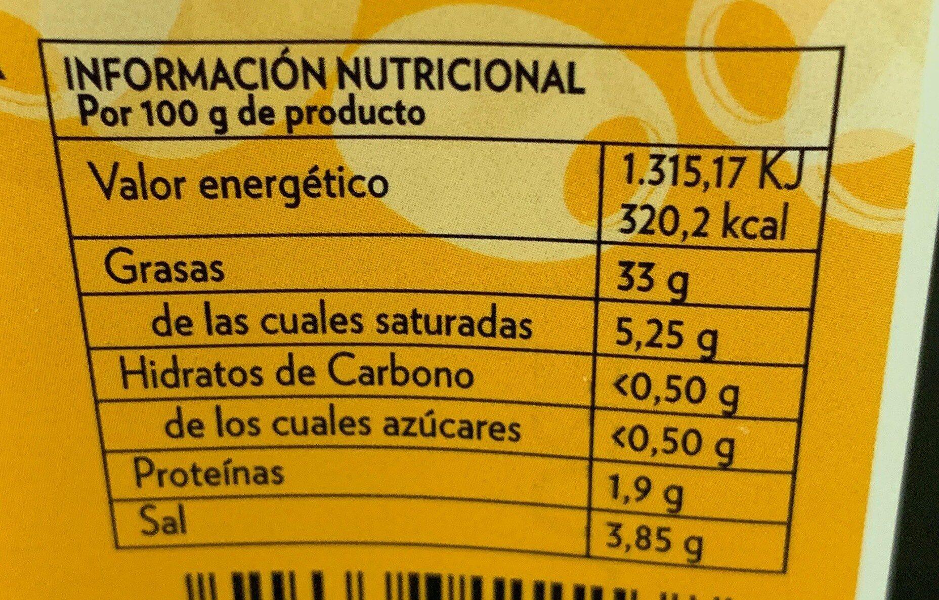 Aceituna negra con hueso - Nutrition facts - es