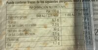 Fajitas mexicanas - Nutrition facts - es