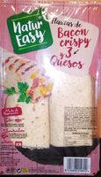 Flautas de bacon crispy y 3 quesos - Producte