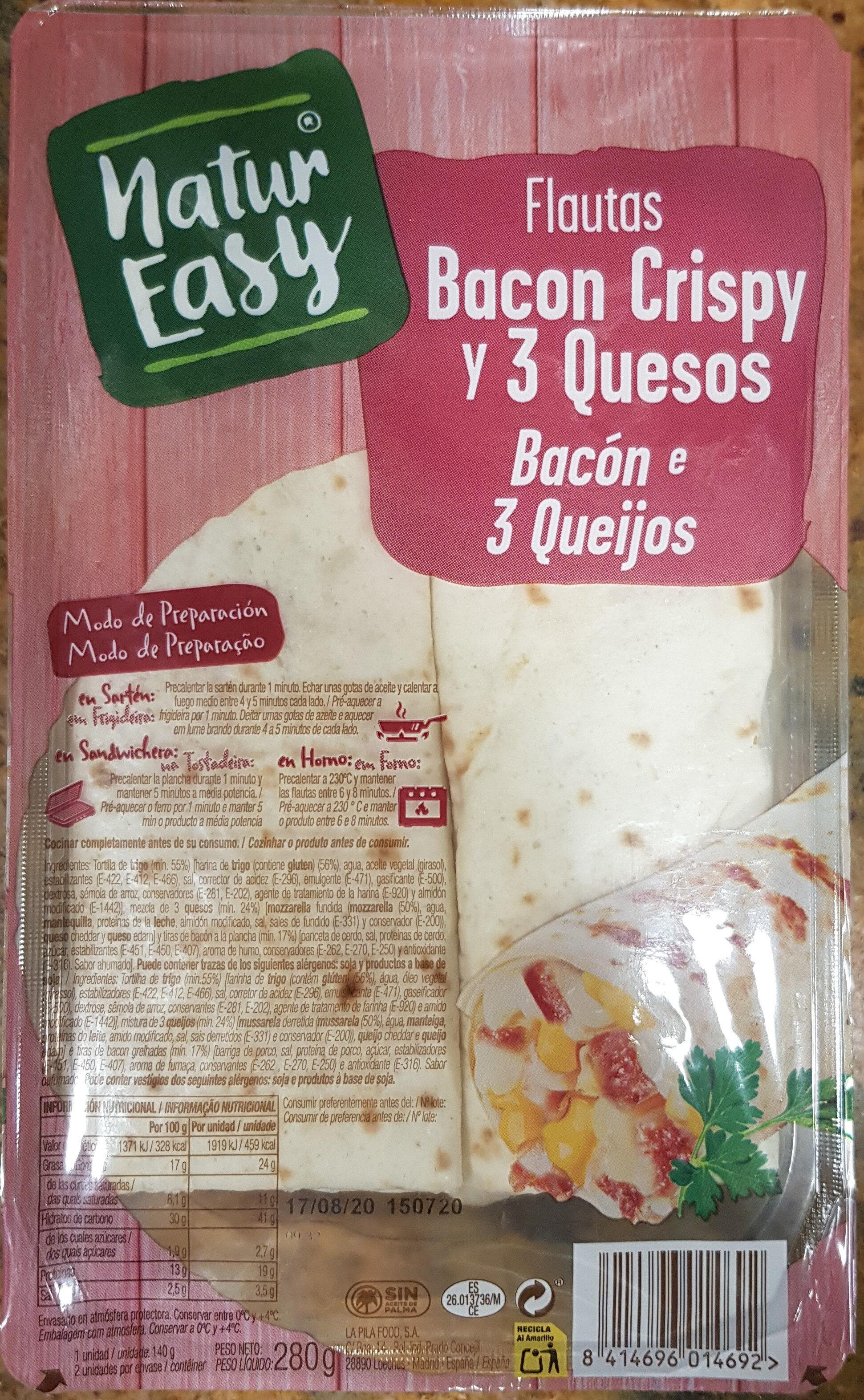 Flautas de bacon crispy y 3 quesos - Producto - es