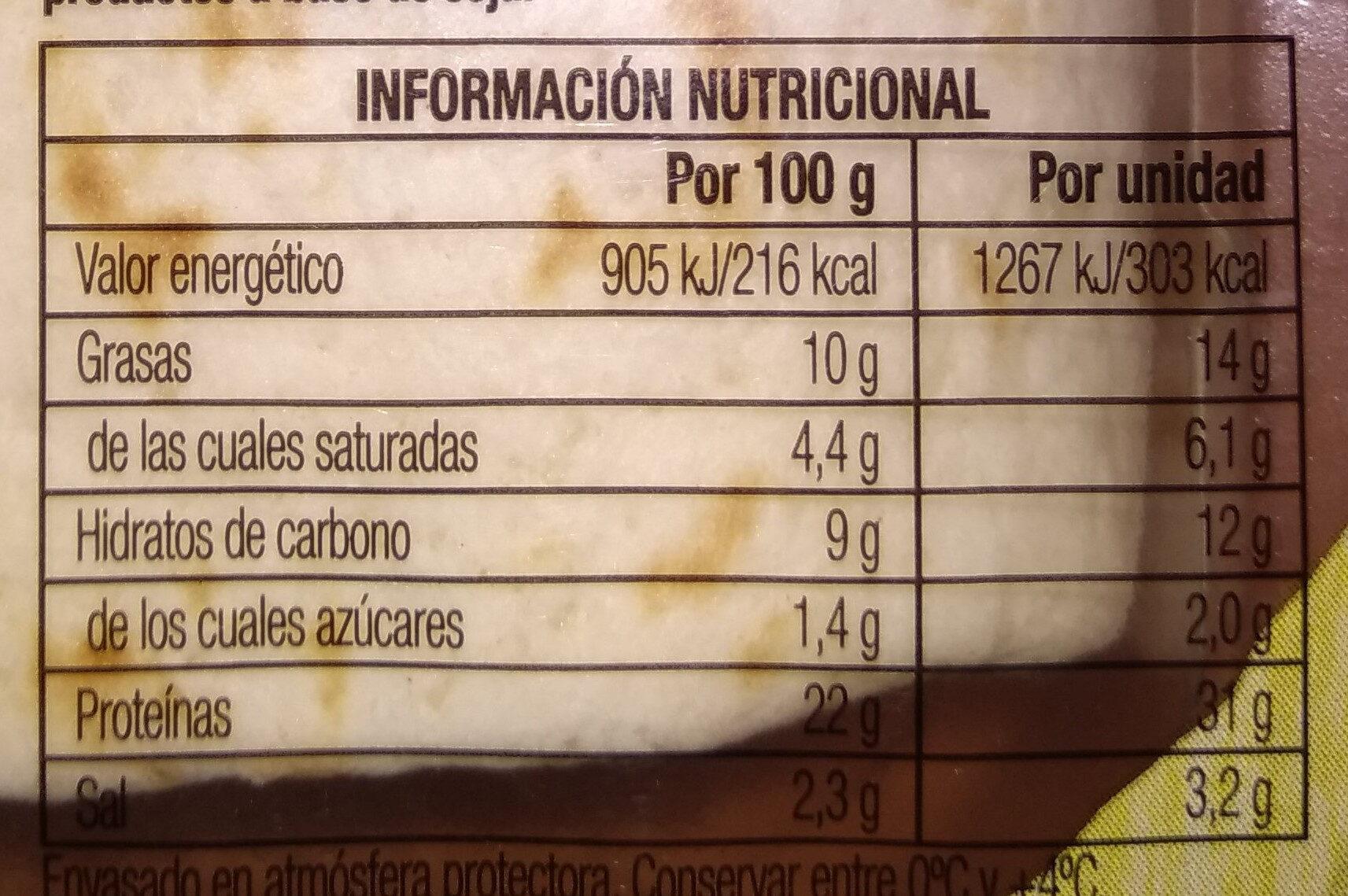 valor nutricional del pollo asado