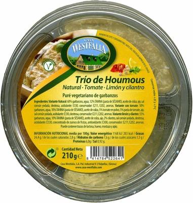 Trío de houmous - Produit - es