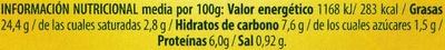 Trío de houmous - Informations nutritionnelles - es