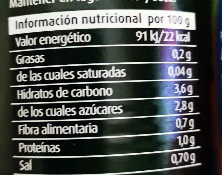 Tomate triturado - Informació nutricional - es