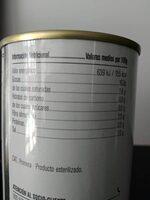 Aceitunas negras cacereña sin hueso - Nutrition facts - es