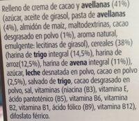 Cereales rellenos de cacao - Ingrédients - es