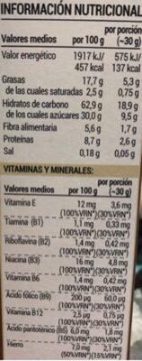 Cereales rellenos de cacao - Informations nutritionnelles - es