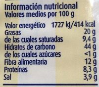 Palomitas de maíz, sabor mantequilla - Nutrition facts - es