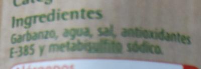 Garbanzos - Ingredients