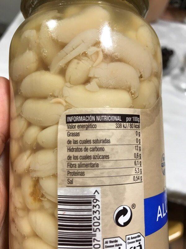 Alubias blancas - Informació nutricional