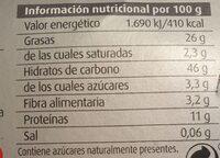 Turrón nata y nueces - Nutrition facts - es