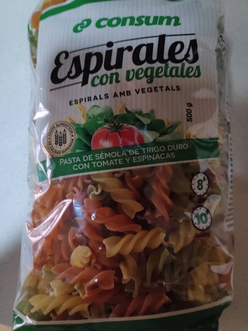 Espirales con vegetales - Produit