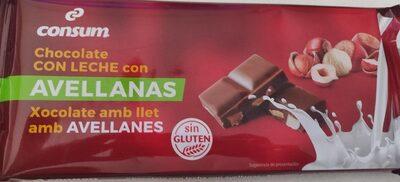 Chocolate con leche con avellanas