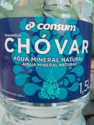 Agua mineral natural - Información nutricional - en