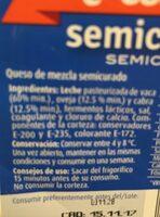 Semicurado - Ingredientes