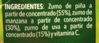 Zumo de piña manzana y uva - Ingredientes