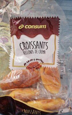 Croissants rellenos de crema - Produit - es