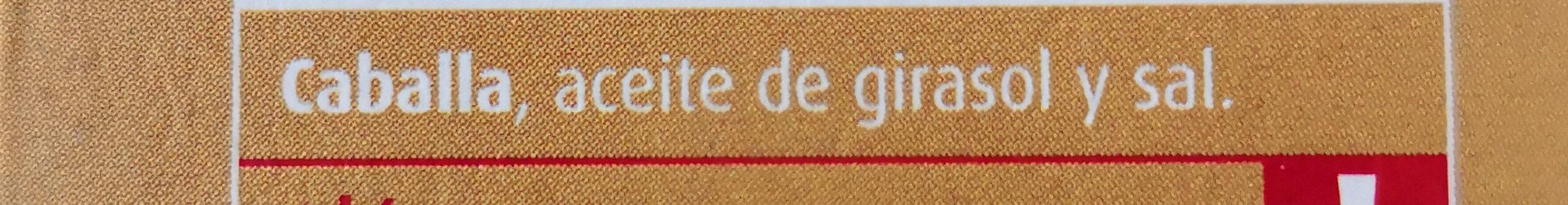 Caballa del Sur en Aceite de Girasol - Ingredientes - es