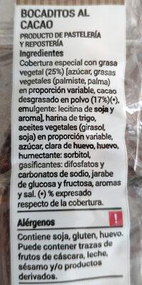 Bocaditos al cacao - Ingredients - es