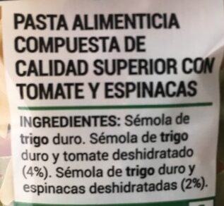 Farfalle con vegetales - Ingredientes