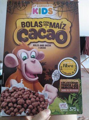 Bolas con y maíz cacao