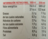 gazpacho tradicional - Informació nutricional