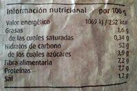 Pan de pueblo - Voedingswaarden - es